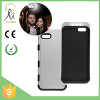 Incoming Call Led Blink/flash Case Cover,Clear Soft Tpu Back Cover With Hard Pc Bumper Case For Apple Iphone 5