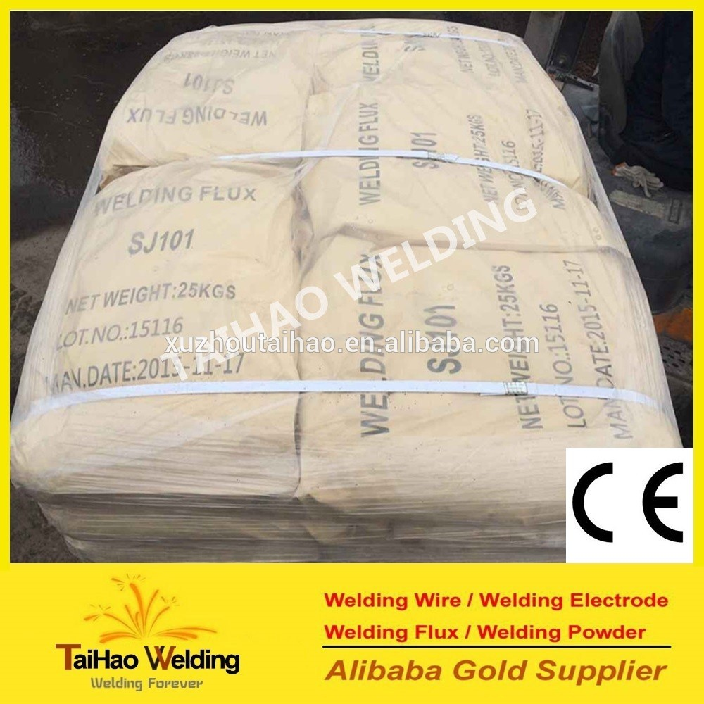 agglomerated Welding Flux SJ501 for Submerged Arc Welding Wire H08A/H08MnA (skype:taihao-vivian)