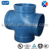 FM/ UL APPROVED ductile iron grooved pipe fittings Pipe reducing cross joint