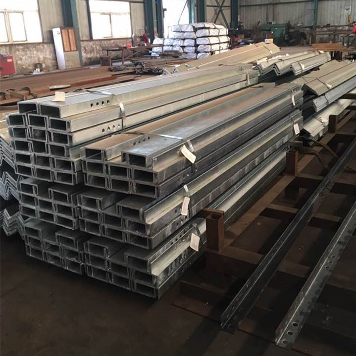 Hot-Dip Galvanized Strut U Beam Steel Channel holes U channel steel beam angle bar for building
