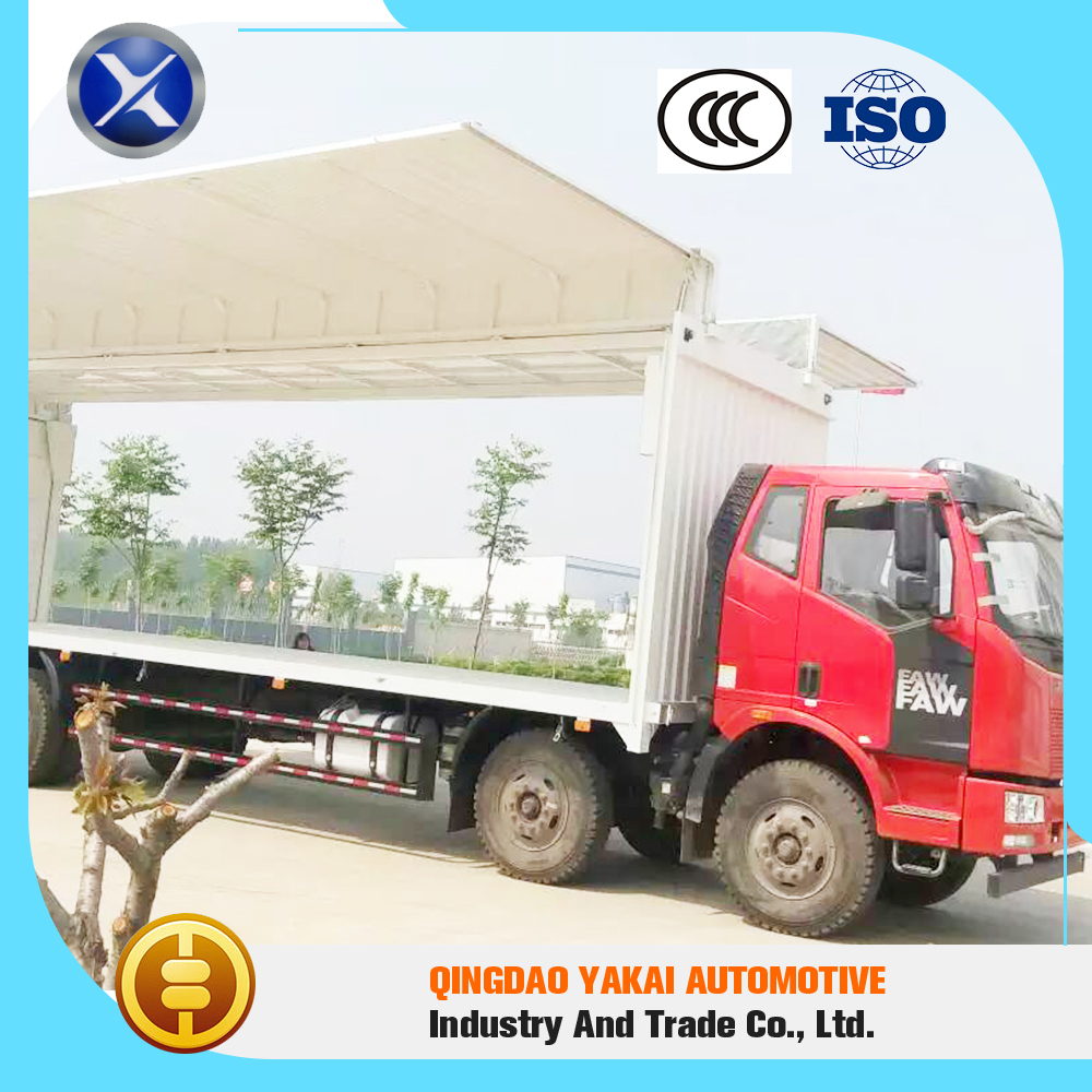 High temperature control precision pass ISO CCC wing open van truck body refrigeration