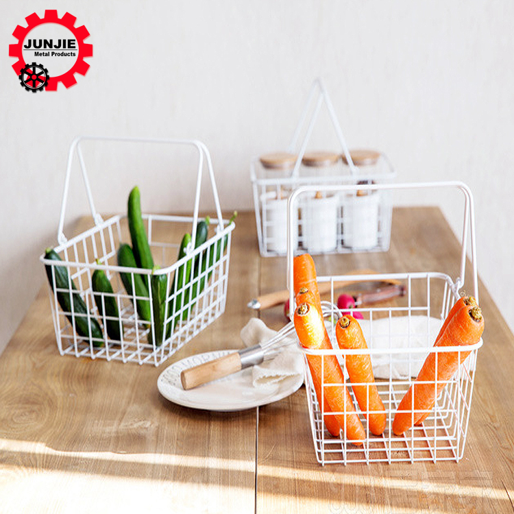 customized home kitchen wire meshstorage portable basket for fruit vegetable