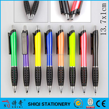 plastic big clip logo printed pattern grip pen