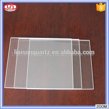 Rectangular Heat Resistant transparent UV quartz glass plate