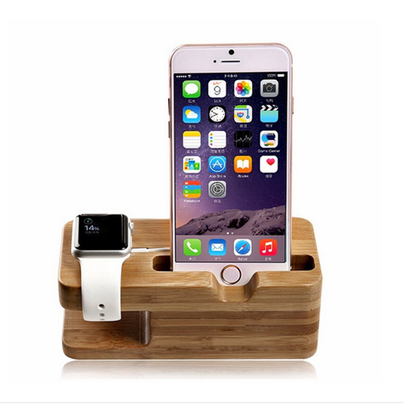 Good quality phone holider newest wood holder for phone and watch from evergreentech gifts wholesale store