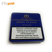 small aluminum silver plain cigarette pack tin boxes