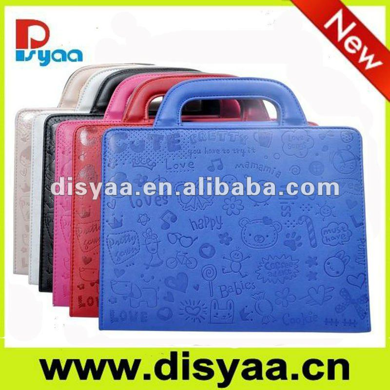 For apple iPad 2 leather case hot sale