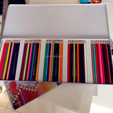 assorted wood color pencil stationery set with tin box