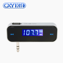 GXYKIT Shenzhen F1 wireless 3.5mm jack car mp3 radio fm transmitter