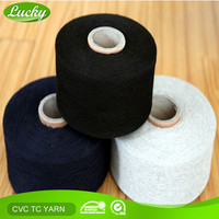 Cnlucky Lucky Factory Recycled TC/CVC blended yarn for knitting gloves, yarn for working gloves, cheap price