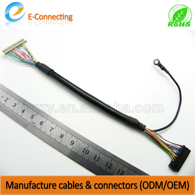 High Quality LED Display Monitor lcd lvds cable with customised length/computer to tv cable