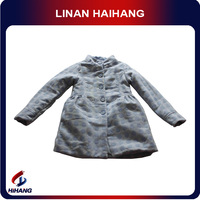 large spot wool knee length coat for girls COAT
