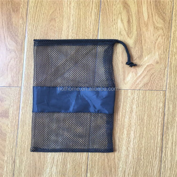 Wholesale Factory Made Cheap Shoes Mesh Bag with Drawstring