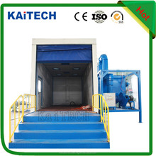 blasting booth,blast room with auto recovery system in China