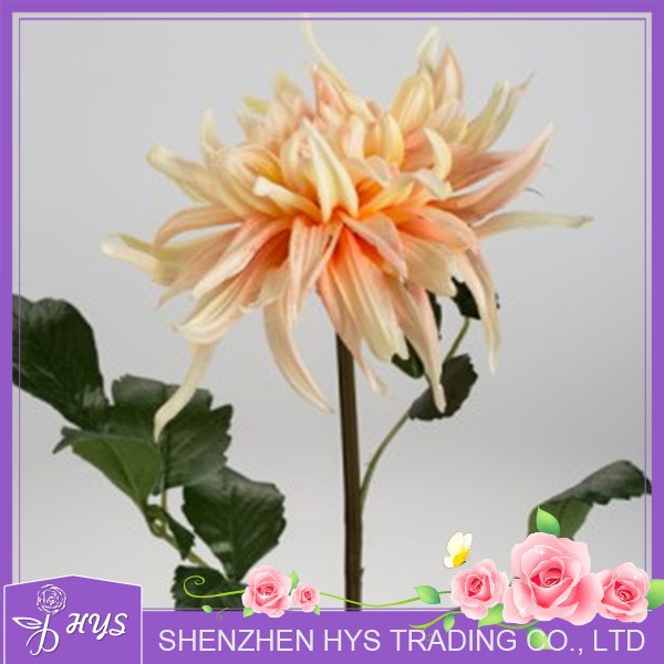 nature touch artificial dahlia flower , top quality dahlia for sale