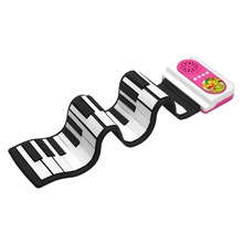 S2037 Portable Soft Silicone Flexible Digital 37 keys Roll Up Piano