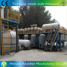 Continuous waste engine oil refined to diesel system