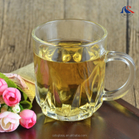 Unique Design Wholesale Custom 230ml Clear Glass Mug with Handle