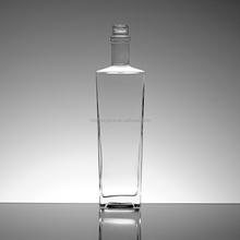 Competitive price crystal white clear vodka glass bottle various sizes