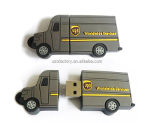 Truck shaped usb 8gb pvc memory stick for UPS dhl tnt corporative gifts
