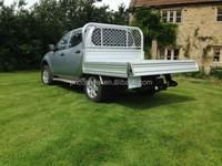 Aluminium flat tray pickup body with 2 tonne capacity