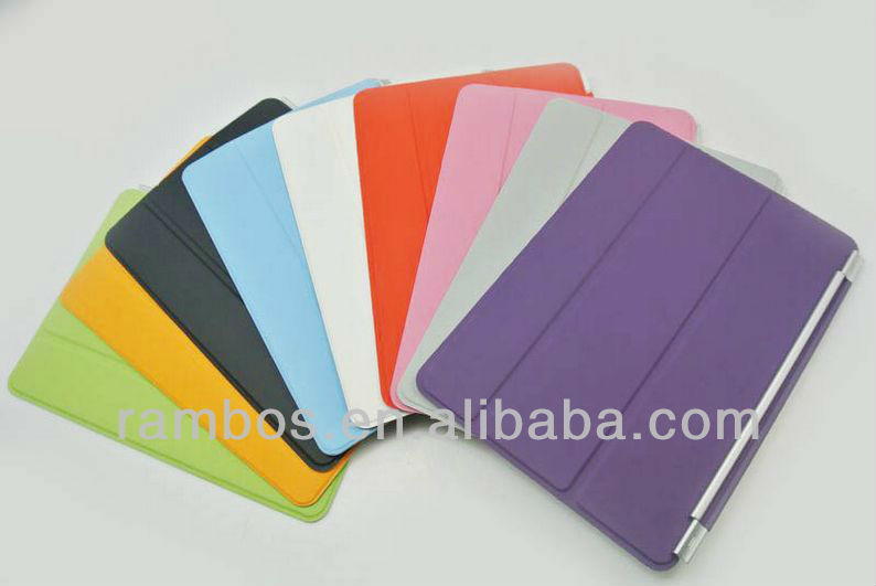 Smart Cover Magnetic Folding Stand Leather Case with Back Cover for ipad mini