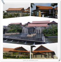 Fashion building villas roof use fish scale roof tile for sale