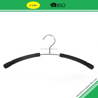 LM1045 Hot Sale Wire Black Clothes Foam Hanger