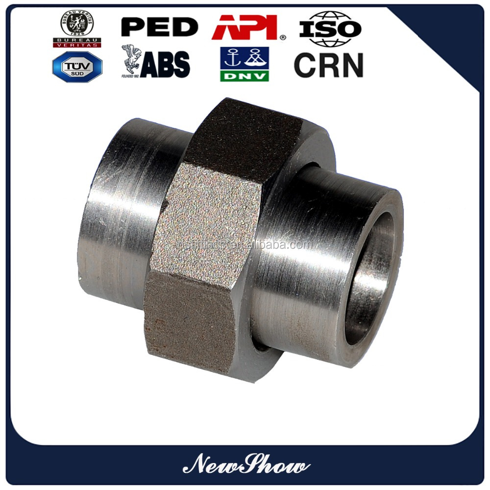 professional pipe fitting manufacturer SS304 SW forged union
