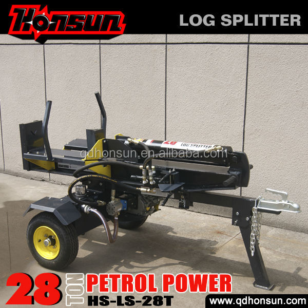 6.5hp B&S Gross and Honda GX200 engine equipped optional professional cutting tool 28 tonne petrol engine log splitter