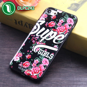 Factory tide brand supreme flower mobile phone case smooth IMD fashion custom design cell phone case for iPhone 7