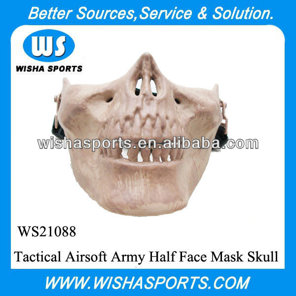 Tactical Airsoft Army Half Face Mask Skull