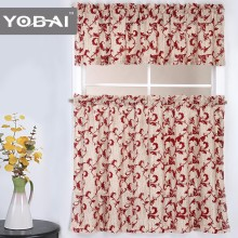 100% Polyester Spaghetti New Design Flocking Kitchen Curtain Cloth