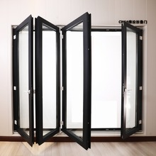 Thermal insulated Aluminum folding doors multi folding doors for commercial & residential building