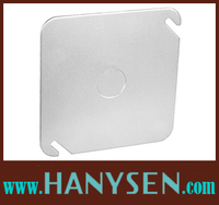 Steel square knockout box cover , Utilitybox cover wholesale price