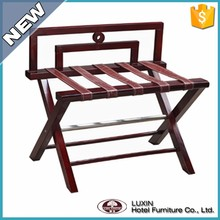 china supplier hotel wooden luggage rack for bedroom