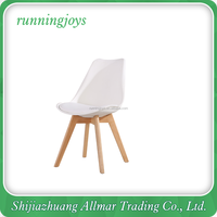 Factory Price Cheap Colorful Modern Plastic Chair Wood Chair