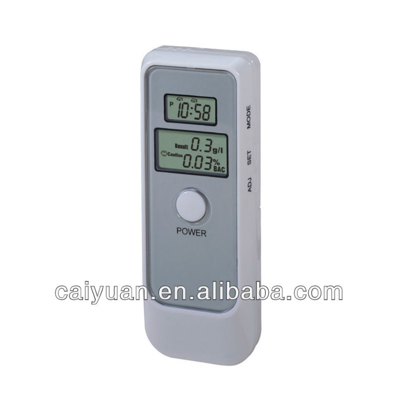 2-LCD digital breathalyser/alkohol/alcohol breath tester with portable lanyard