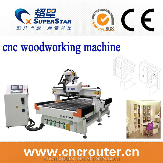 ATC 1325 9.0kw cnc router 4 axis with rotary spindle servo motor