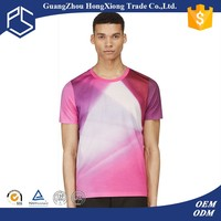 New style pattern dyed neon color t-shirt