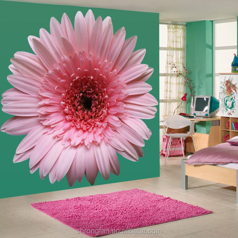 Wonderful Interior Decorative Walls Paper Sticker,Image Of Large floral Wall Paper