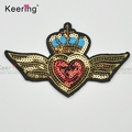 10.2*6.5cm sequin sew or iron on wings patches WEFB-031