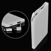 2016 new Slim fast charging 4000mah credit card power Bank for galaxy note 3