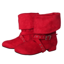2017 Women Dance Boots Bootie Shoes Black Red Custom Color Ladies