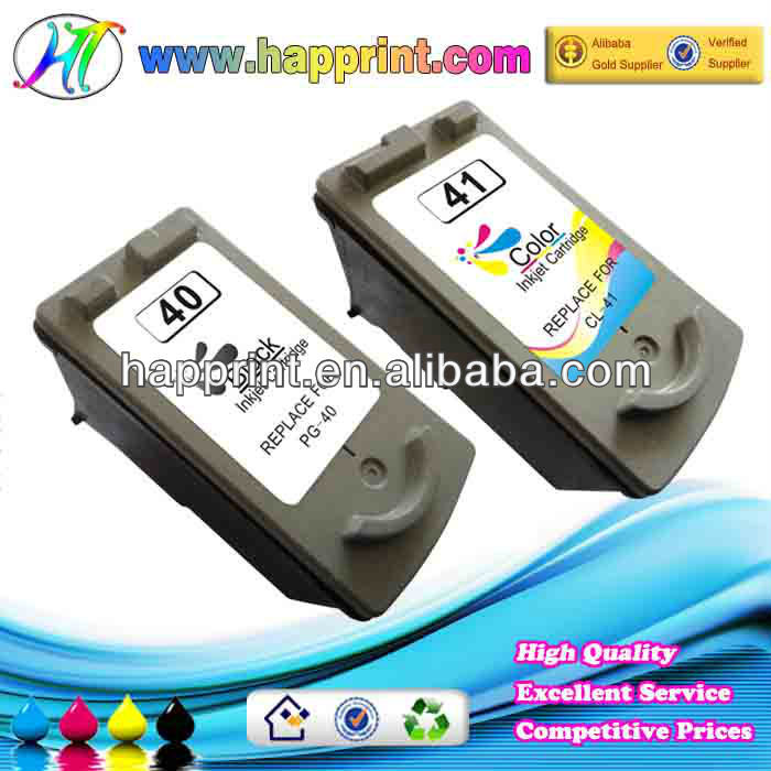 Factory price refillable ink cartridge for canon pg40 cl41 inkjet printing cartridge