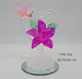 Glass flower with Butterfly Hear Shape Gift Decoration For Wedding Gifts