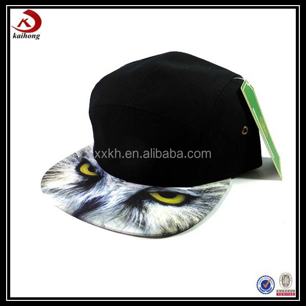Customized wolf animal 5 panel hats
