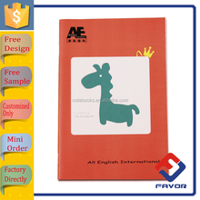 cartoon printed cover english exercise book