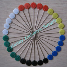 "high quality 1-2"" plastic flower flat head sewing pins"