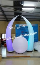 Led lighting inflatable tusk pilar inflatable ivory for decor